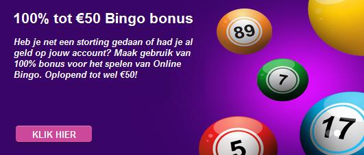 bingo promotie bij Betsson